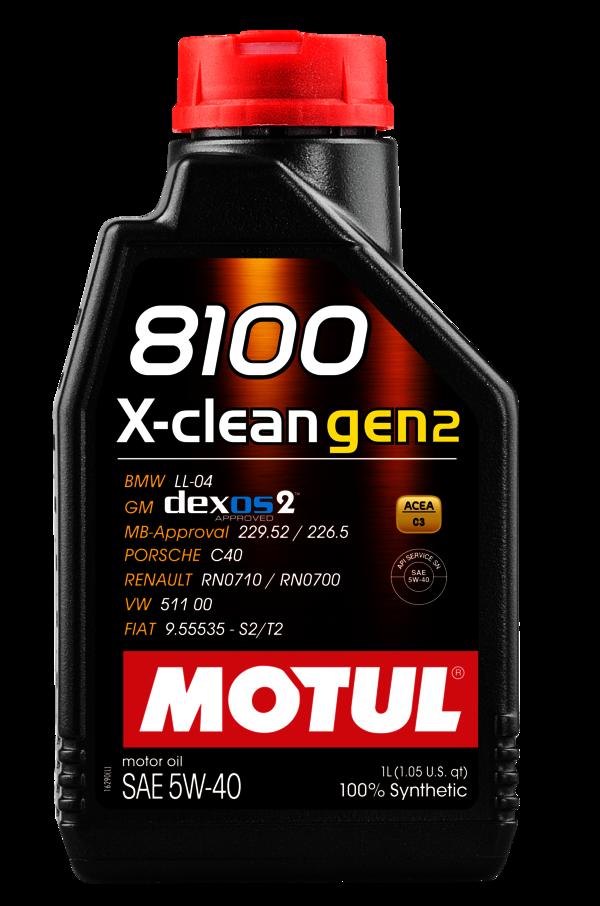MOTUL 5w-40 8100 X-CLEAN gen2 -1L (109761)