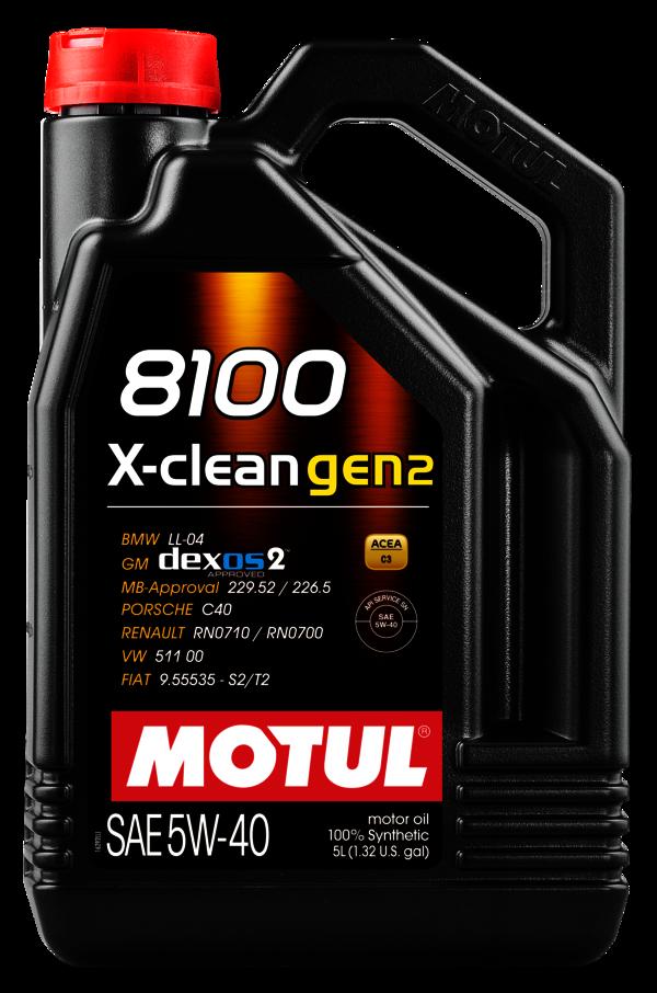 MOTUL 5w-40 8100 X-CLEAN gen2 -5L (109762)