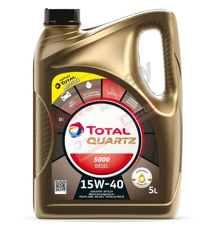 Total Quartz 15w-40 diesel 5000 5L (148644)