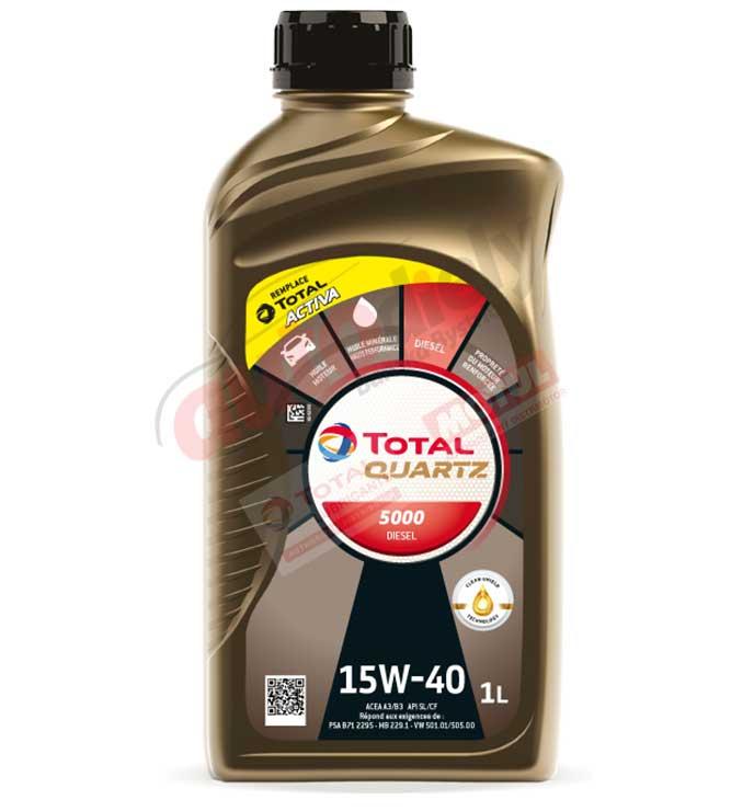 Total Quartz 15w-40 diesel 5000 1L (166246)(213766)