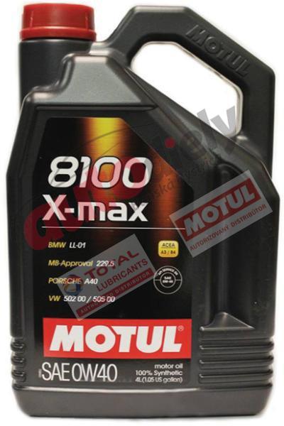 MOTUL 0W-40 8100 X-MAX 4L (104532)