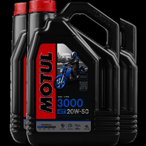 Motul 20w-50 3000 4T 4L (107319)